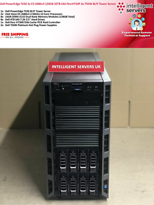 Dell PowerEdge T630 2x E5-2680v3 128GB PercH730P 32TB SAS 2x 750W Tower Server