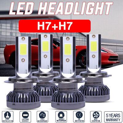 TSUKI FC H7 03-08 Mini Cooper LED Headlight Bulbs Low or High Beam 6000K