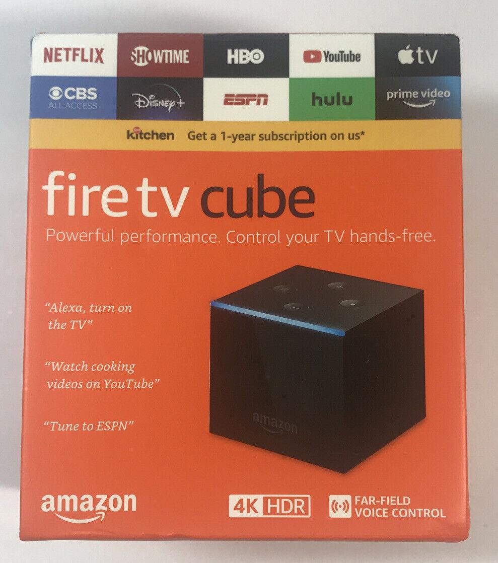 Amazon Fire TV Cube 4K 2nd Gen Streaming Media Player 2nd amazon cube fire gen media player streaming
