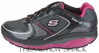 E20 • Skechers Shape-ups S2 Lite Shoes • Womens 8.5 Black / Pink • 26628