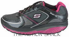 E20 • Skechers Shape-Ups S2 Lite Shoes • New Womens 9.5 Black / Pink • #26629