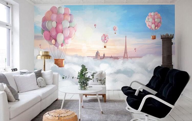 3D Fliegende Ballons 83 Tapete Wandgemälde Tapete Tapeten Bild Familie DE