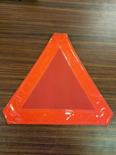 SMV Slow Moving Vehicle Sign soft sided easily removable