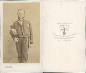 Gallot-Cherbourg-Homme-en-uniforme-militaire-circa-1870-CDV-vintage-albumen-c