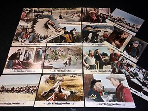 LES-FLECHES-BRULEES-jeu-16-photos-lobby-cards-cinema-western-indien-1951