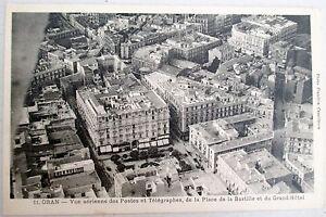 Algerie-Oran-Vue-Aerienne-Postes-et-Telegraphes-Place-Bastille-Grand-Hotel