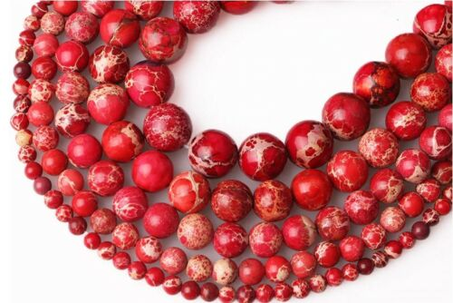 Natural Imperial Red 47-50 Stones 8mm Round Diy Jewelry Making Loose Beads