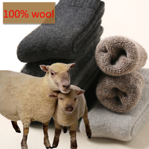 US-3Pairs-Mens-Winter-Thermal-Soft-100-Wool-Cashmere-Casual-Dress-Warm-Socks