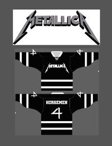 METALLICA 4 HORSEMEN Pro Style Hockey Jersey XL sz 52 1X  wwe wwf wcw nwa