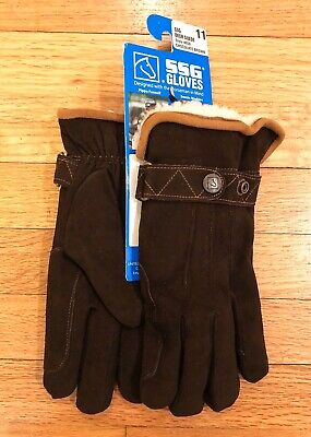 SSG  Riding gloves Leather and crochet black and tan