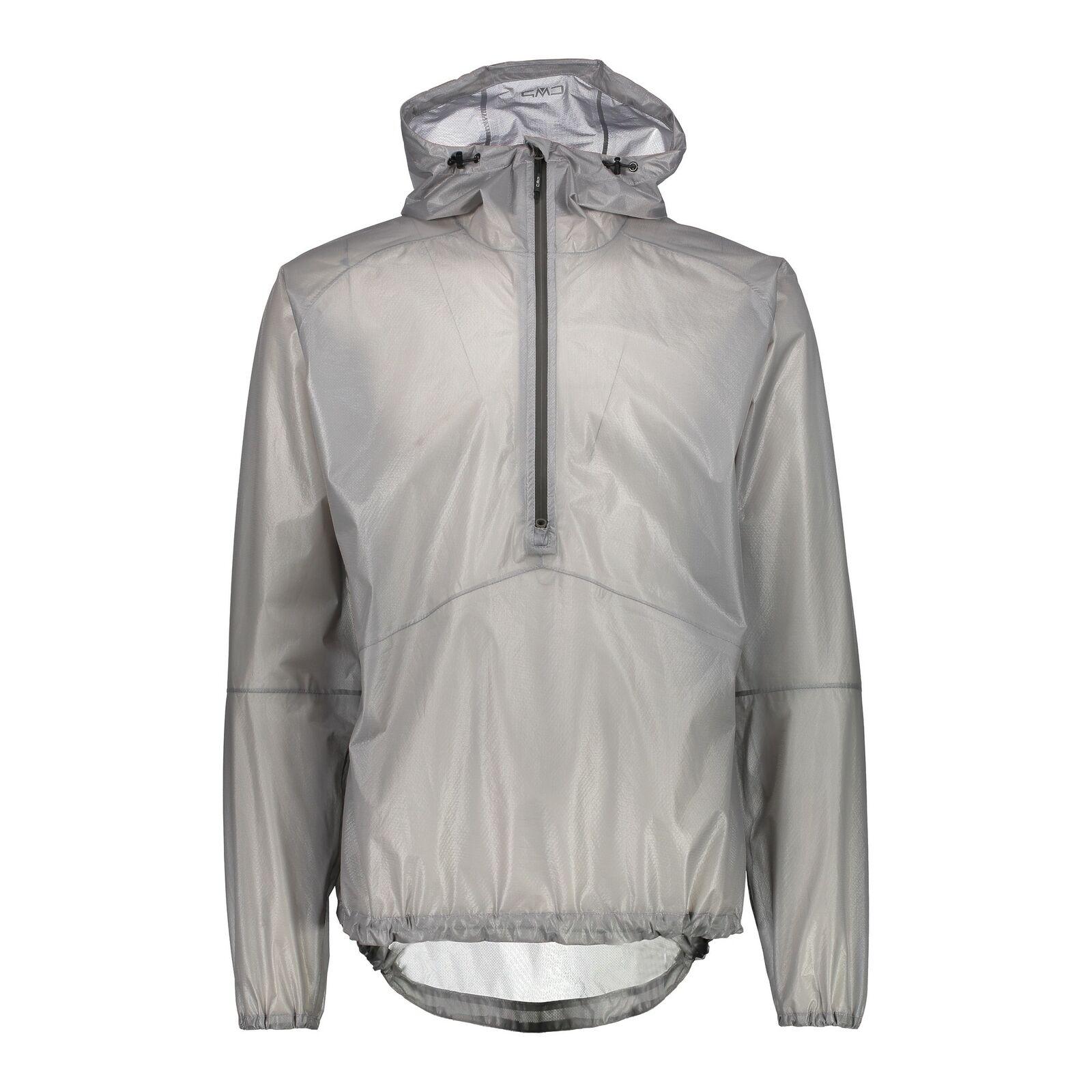 CMP Chaqueta Funcional Man Jacket Fix Hood gris Impermeable Transpirable