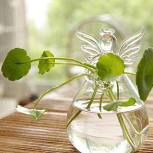 SA Beten Engel Vasen Kristall Transparente Glas Vase Blumenbehaelter Hydropon 3X