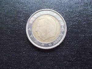 Eine Stk 2 Euro Münze Belgien 2000 Mit Fehlprägung Ebay