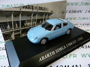 SIM20F-Voiture-1-43-IXO-altaya-Voitures-d-039-autrefois-Abarth-Simca-1300-GT-1962