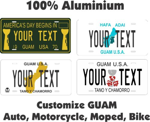 Guam Custom  Personalized Auto Car Motorcycle Moped Bike Bicycle License plate