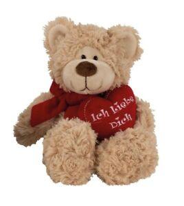 Teddybär mit Herz Ich liebe dich 17 cm Beige Teddy ...