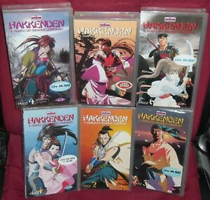 VHS-MANGA-SAMURAI-HAKKENDEN-I-GUERRIERI-1-2-3-4-5-6-SERIE-COMPLETA-ANIME-MAI-DVD