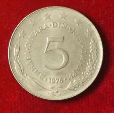 Münze Coin Jugoslawien Jugoslavija 5 Dinar Dinara 1976 (G3)