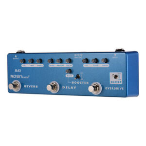 Guitar-Multi-Effects-Pedal-5-in-1-Reverb-Delay-Overdrive-Booster-Buffer-Mosky
