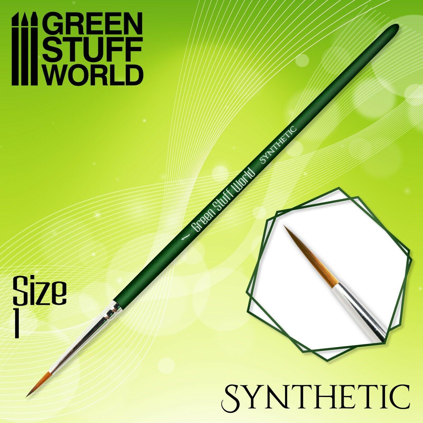 GREEN SERIES Pincel Sintetico - 1 - Ergonomicos - Acrilico y Oleo...