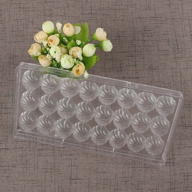 Shell Shape Hard Chocolate Mold 3D Sea Shell Polycarbonate Clear Ice Jelly U4C9