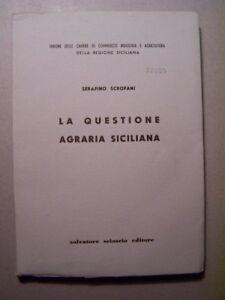 Serafino-Scrofani-La-Questione-Agraria-Siciliana-1961-Storia-locale-Sicilia