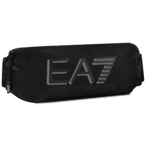 Black EA7 Vis Sling Adjustable Strap Zipped Bag Men