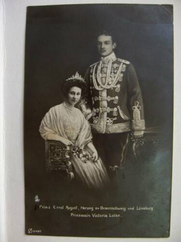 1913 GERMAN PRINCE ERNST AUGUST, PRINCESS,RPPC POSTCARD