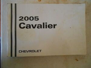 2005 chevrolet cavalier complete original owners manual instructions rh ebay co uk 1998 Chevy Cavalier Owner's Manual 2005 Chevy Cavalier Service Manual