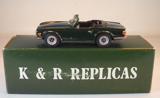 K & R re PLI cars 1  43 triumph TR 6 green Keinserien model OVP