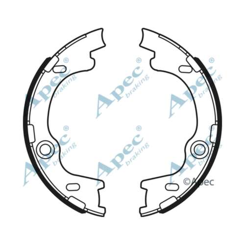 SHU747 Genuine OE Quality Apec Rear Brake Shoe Set