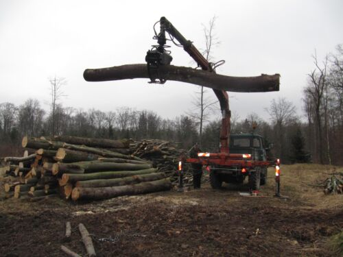 Holzgreifer Holzzange Rückezange Ladekran Forst Traktor Schlepper Zange Bauplan