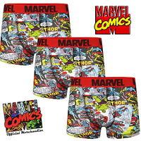Pack of 3 Mens Marvel Comics Boxer Short Trunks Sizes XS S M L XL Cotton Gift