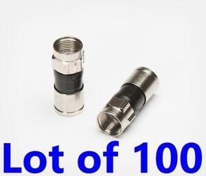 Details about LOT 100 RG6 PPC Coax Cable FITTINGS Compression Comcast  EX6PLUS CONNECTORS CATV