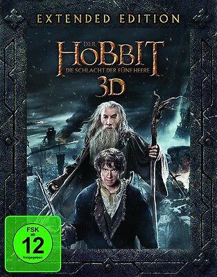 3D+2D Blu-ray * Der Hobbit Die Schlacht der fünf Heere (Extended Edition) Teil 3