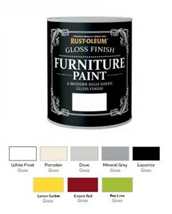 Image Is Loading Rust Oleum Gloss Furniture Paint 750ml 125ml Chic