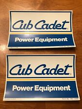 STICKER CUB CADET DIE CUT DECAL WHITE Set of 2