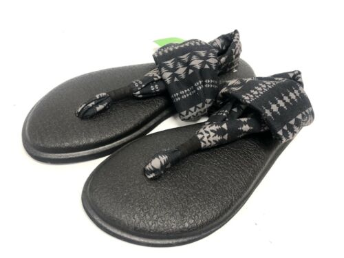 Natural Koa Tribal 1015889 Sanuk Yoga Sling 2 Prints Women/'s Sandals Black