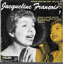 EP 4 TITRES--JACQUELINE FRANCOIS N° 7--LA MARIE VISON / SERENATA