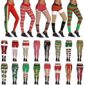 a057ecfe0c124 Image is loading Christmas-Print-Women-Yoga-Gym-Sport-Leggings-Run-