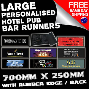 Image Is Loading PROFESSIONAL PERSONALISED BAR RUNNERS Hotel Cafe Menu Sign