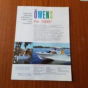 Vintage-1961-Owens-Boating-Brochure-color-Exeter-Brighton-York-Kent-Dover-etc
