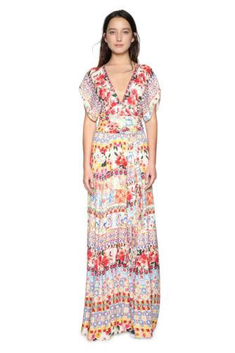 Desigual Beautiful Floral Brigitte Maxi Dress 36-46 UK 8-18 RRP �159 Cap Sleeves
