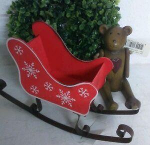 deko schlitten aus holz rot shabby chic weihnachtsdeko. Black Bedroom Furniture Sets. Home Design Ideas