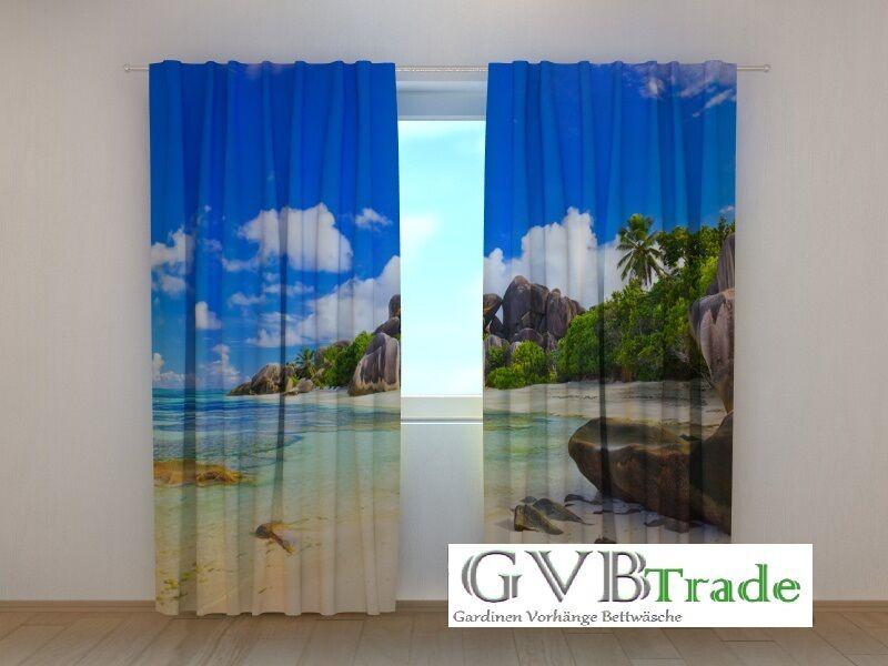 Fotogardinen  Strand  Fotovorhang Vorhang Gardinen Motiv 3D Qualität, Qualität, Qualität, auf Maß | Guter Markt  6985d2