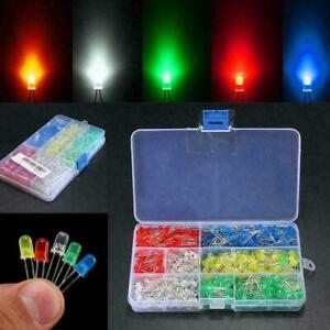 25x LED Leuchtdioden Sortiment 3mm 5 Stück je Farbe gelb blau grün rot weiß set