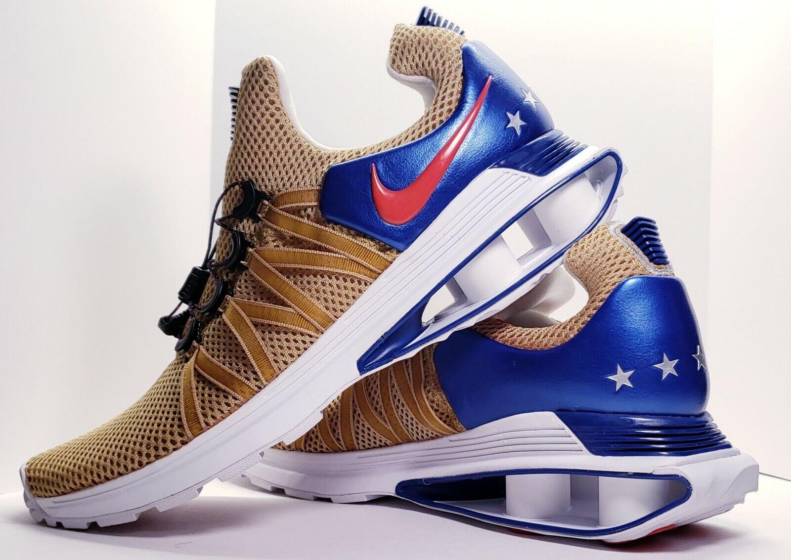 Nike Shox Gravity Mens AR1999-700 Metallic gold Red bluee Team USA Olympic Size11