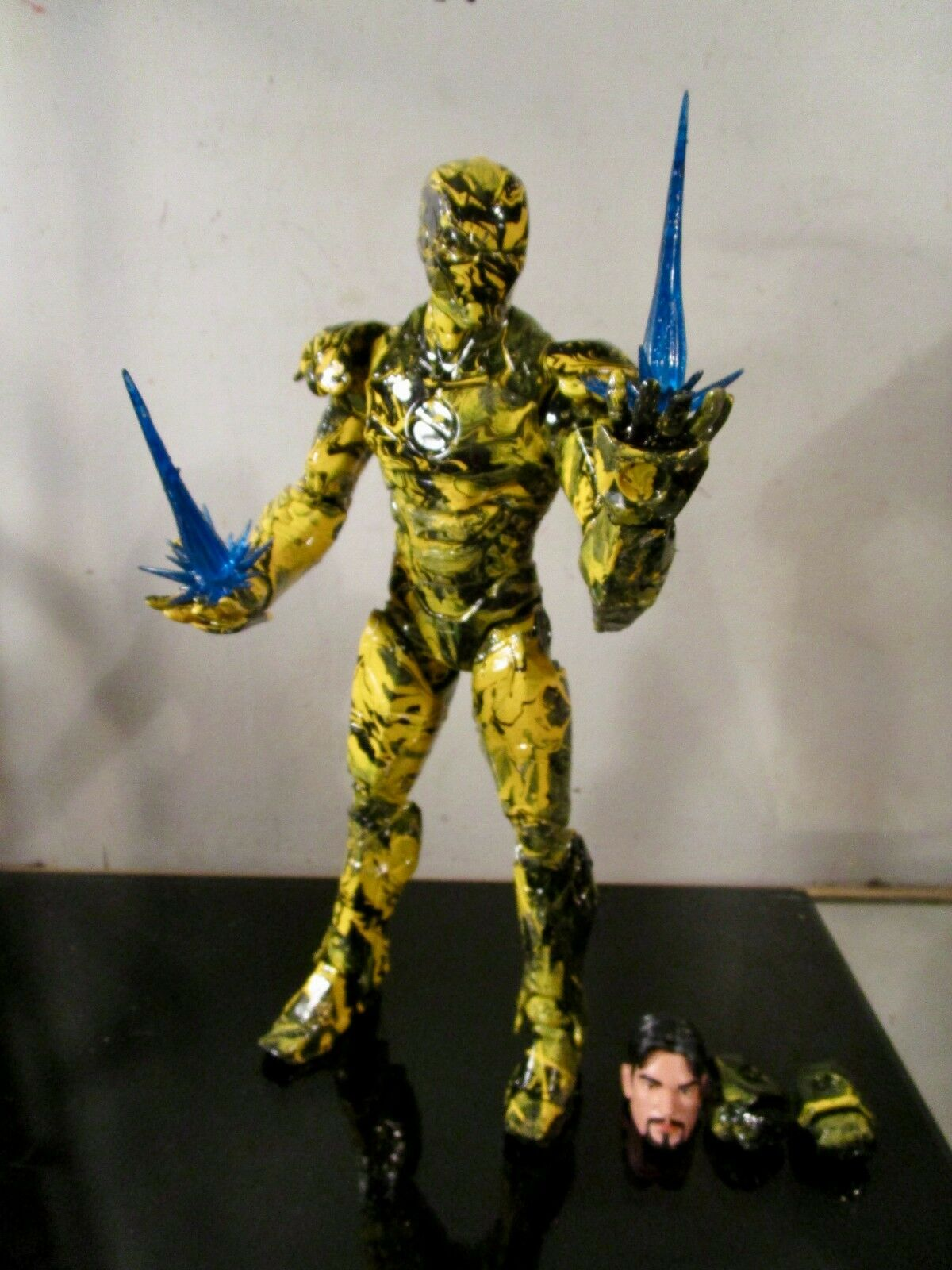 Marvel Legends IRON MAN 12  Figure HAND PAINTED COSTUM BY ARTIST MUSKYAI 1 OF A