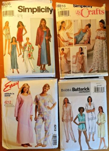 Misses Sleepwear Sewing Patterns Sold Individually Multi Sizes /& Styles