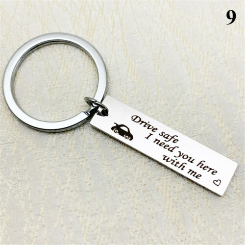 Women Fashion Couples I Need You Here Fly Safe Drive Safe Keychain Key Rings